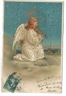 ANGE - Carte Gaufrée + Dorure - Anges