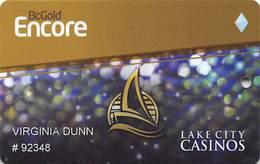 Lake City Casinos - British Columbia Canada - Slot Card - Casino Cards