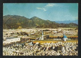 Saudi Arabia Picture Postcard Aerial View Holy Mosque Al Khaef Mina Islamic View Card - Arabie Saoudite