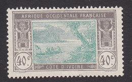 Ivory Coast, Scott #59, Mint No Gum, River Scene, Issued 1913 - Côte-d'Ivoire (1892-1944)