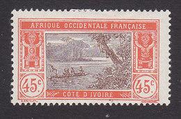 Ivory Coast, Scott #60, Mint Hinged, River Scene, Issued 1913 - Ivoorkust (1892-1944)