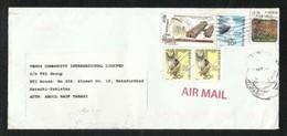 Hong Kong China Air Mail Postal Used Cover HongKong To Pakistan  Sea Eagle Birds Animal - Hong Kong (1997-...)