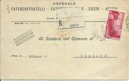 CM177-Manoscritti Raccomandati Con 10 £ Avvento 27.1.1947 - Bello - 6. 1946-.. República