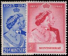Montserrat 1948 Royal Silver Wedding Lightly Mounted Mint. - Montserrat