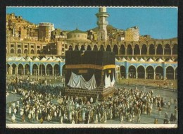Saudi Arabia Picture Postcard Holy Ka Aba Mecca Mosque View Card - Arabie Saoudite