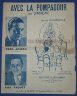 CAF CONC RECUEIL DELCROIX RUE PARTITION MAGIE SPIRITISME AVEC LA POMPADOUR CHARLYS HIMMEL ADISON PAQUET 1935 ETC - Musique & Instruments