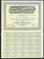 Compagnie AGRICOLE Et INDUSTRIELLE Du Congo - Part Sociale - 1935. - Asie