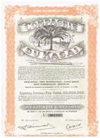 Ancienne Action Congolaise - Compagnie Du Kasaï - Agridus - N° 061490 - Agriculture
