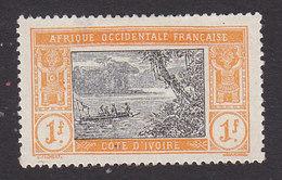 Ivory Coast, Scott #71, Mint No Gum, River Scene, Issued 1913 - Ivory Coast (1892-1944)