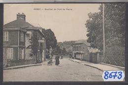8673  ORBEC QUARTIER DU PONT DE PIERRE  CAFE 1916 - Orbec