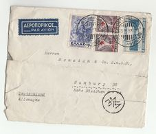 1937 GREECE CENSOR  COVER  To USA Censored Stamps HORSE RED CROSS SHIP  Horses - Greece