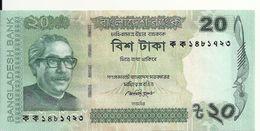 BANGLADESH 20 TAKA 2012 UNC P 55 - Bangladesh