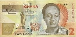 GHANA 2 CEDIS 2013 UNC P 37A B - Ghana