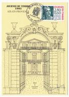 FRANCE - Carte Locale - Journée Du Timbre 1995 - Marianne De Gandon - AIX EN PROVENCE 4.3.1995 - France