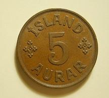 Iceland 5 Aurar 1942 - Islande