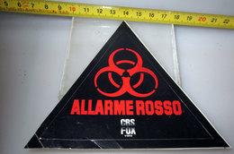 ALLARME ROSSO FILM CBS FOX PUBBLICITARIO STICKER VINTAGE 1995 - Cinema Advertisement