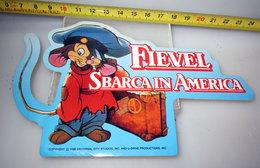FIEVEL SBARCA IN AMERICA DISNEY PUBBLICITARIO STICKER VINTAGE - Cinema Advertisement