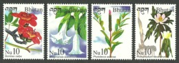 BHUTAN 2002 FLOWERS MEDICINAL PLANTS MEDICAL SET MNH - Bhután