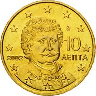 Grèce, 10 Euro Cent, 2002, FDC, Laiton, KM:184 - Grèce