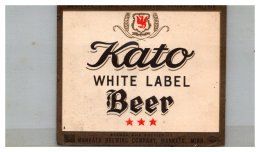 Kato White Label Beer Labell - Alcohols