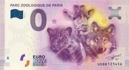France - Billet Touristique 0 Euro 2016 - Parc Zoologique De Paris - EURO
