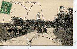 CPA. D07. Le Haut Vivarais . Attelages Rustiques. C. ARTIGES FILS. CPA 13.5 X 8.5 Cm - France