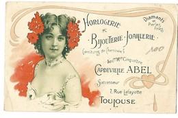 31 TOULOUSE BIJOUTERIE HORLOGERIE JOAILLERIE CAPDEVIELLE ABEL CPA 2 SCANS - Toulouse
