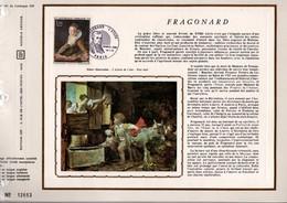 1972 DOCUMENT FDC PEINTURE DE FRAGONARD - Documents De La Poste