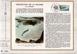 1972 DOCUMENT FDC NATURE LE SAUMON - Documenten Van De Post
