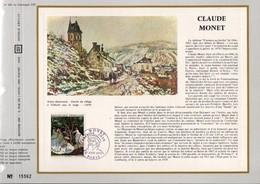 1972 DOCUMENT FDC PEINTURE DE CLAUDE MONET - Documents De La Poste