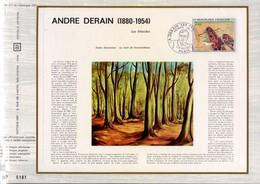 1972 DOCUMENT FDC PEINTURE DE ANDRE DERAIN - Documents De La Poste