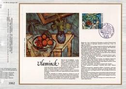 1976 DOCUMENT FDC PEINTURE NATURE MORTE DE DE VLAMINCK - Documents De La Poste