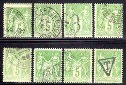 """N° 106 (Sage) Oblitérés """"Cachets RARES + Variétés"""" EXTRAS: COTE= ++ 35 € - 1876-1898 Sage (Type II)"""