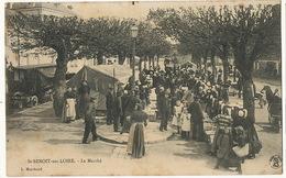 Marché à St Benoit Sur Loire Loiret  Edit Marchand Sully Roulotte Forains - Marchés