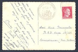 Carte Photo  De Fénétrange Avec Cachet  Finstingen Westm A Stadt Mit ... Du 10/11/1942 - Marcofilia (sobres)