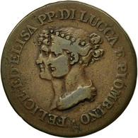 Monnaie, États Italiens, LUCCA, 3 Centesimi, 1806, Firenze, TTB, Cuivre, KM:21 - Regional Coins