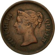 Monnaie, Straits Settlements, Victoria, 1/4 Cent, 1845, TTB, Cuivre, KM:1 - Malaysie