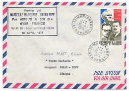 FRANCE - Premier Vol MARSEILLE MARIGNANE - DAKAR YOFF Par AirbusA 300B Air France - MARIGNANE 18.4.1976 - First Flight Covers