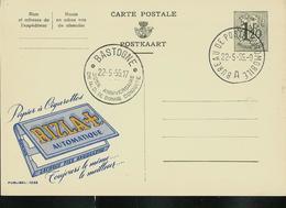 Publibel Obl. N° 1288  ( Papier Cigarettes: RIZ LA + )  Obl. Bastogne 22/05/55 + Bureau Ambulant - Publibels