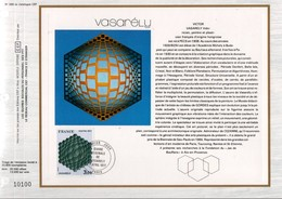 1977 DOCUMENT FDC PEINTURE DE VASARELY - Documents De La Poste