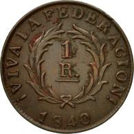 Monnaie, Argentine, BUENOS AIRES, Real, 1840, TTB+, Cuivre, KM:7 - Argentina