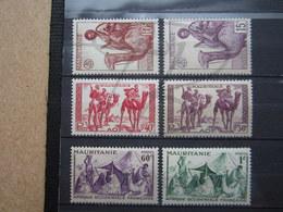 VEND BEAUX TIMBRES DE MAURITANIE N° 125 - 130 , XX !!! - Mauritanie (1906-1944)