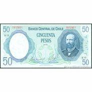 TWN - CHILE 151b2 - 50 Escudos 1981 Serie B 19 - Signatures: De La Cuadra & Molina UNC - Cile