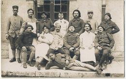 Carte Photo  Chasseur Alpin 6 Eme Croix De Guerre  Guerre 1914 Tirailleur Senegalais, Coloniale , 163 Eme - Guerre 1914-18