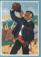 Carte Postale Illustrateur Homualk Le Paysan Buvant à La Gourde Très Beau Plan - Homualk