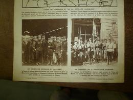 1914 LE MIROIR :Drapeau Du 7e Tirailleur Algérien;Barcy;Les Infirmières De Dieppe;Mortier De 280 En Action (gravure);etc - Riviste & Giornali