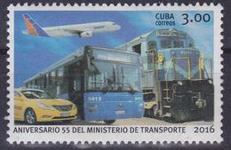 Timbre-poste Gommé Neuf** - Aniversario 55 Del Ministerio De Transporte - N° 6128 (Michel) - République De Cuba 2016 - Kuba