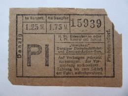 1926   DANZIG  Germany / Poland   TICKET - Titres De Transport
