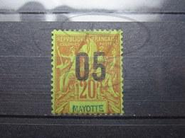 VEND BEAU TIMBRE DE MAYOTTE N° 24 , GARANCE SUR VERT , (X) !!! - Mayotte (1892-2011)