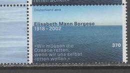 GERMANY, 2018, MNH, ELISABETH BORGHESE, SEA PROTECTION, ENVIRONMENT,  1v - Environment & Climate Protection